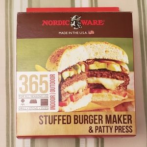 Stuffed Burger Maker + Square & Round Patty Press